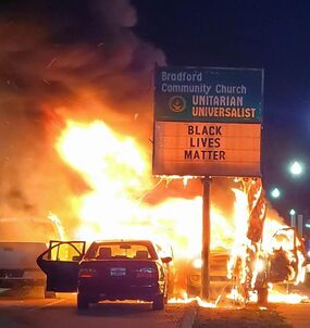 Chiesa di Kenosha data alle fiamme: notizia falsa